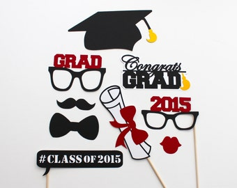 2016 Graduation Photo Booth Props 2015 - 2017 Commencement Photobooth