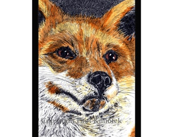 Red Fox Pen and Ink Print
