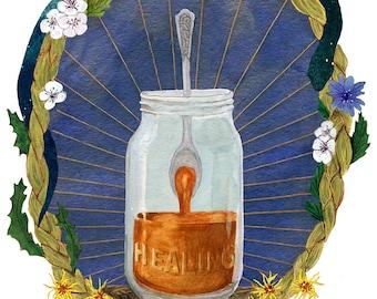 Healing Print — Abacus Corvus