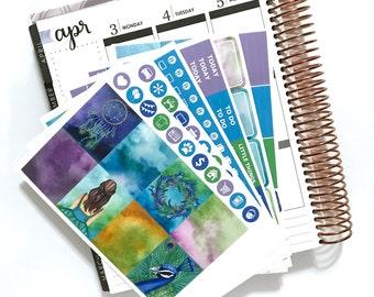 Watercolor Dreams Weekly Planner Kit
