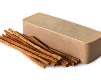 Cinnamon Soap Loaf FREE SHIPPING, Soap Log, Natural Soap, Wholesale Soap, Artisan Soap, Bulk Soap Bulk, Cold Process Soap, Vegan Soap, Soap