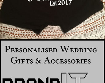 Personalized Husband Est groom boxer, husband gift from bride, anniversary gift, gift for him, groom gift, personalized gift, wedding gift