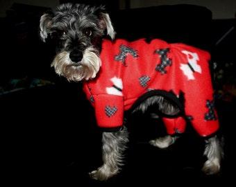 Warm Fleece Pet Pajamas Your choice of Print
