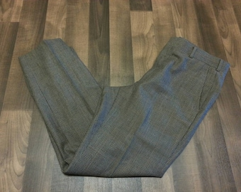 80s Light brown Houndstooth Men's golf pleated pants!
