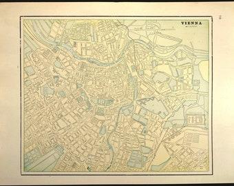 Vintage vienna map Etsy
