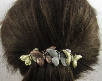 Butterflies French Barrette 80MM- Hair Accessory- Barrettes and Clips- Butterfly