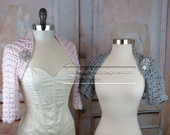 Crochet Shrug Pattern Easy Crochet Pattern Bolero Crochet Patterns Wedding Shrug Crochet Pattern Short Three Quarter Long Sleeves