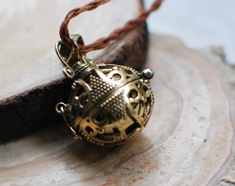 Mexican Bola,Pregnancy Necklace with Wings,Harmony Ball,Pregnancy Gift,brass harmony ball,angel caller.