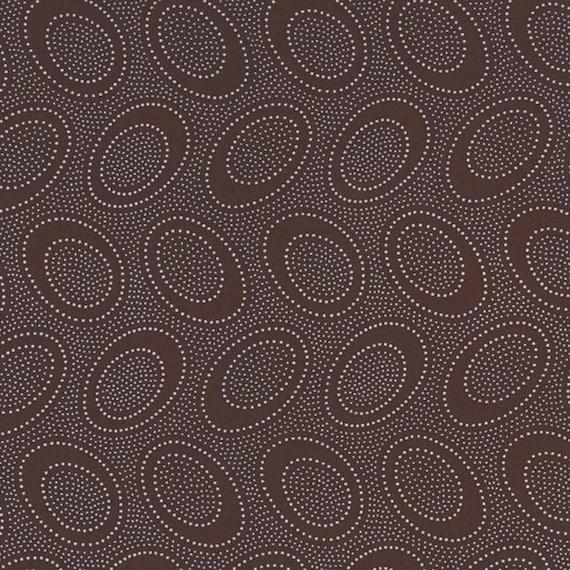 ABORIGINAL DOT Chocolate Brown GP71 Kaffe Fassett Sold in 1/2 yd increments