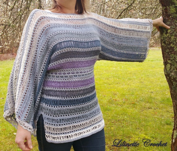 Mists In Spring Kimono Tunic Crochet Pattern Instant Pdf