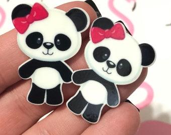 10 piece panda girl charms