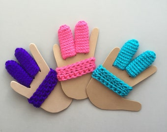 Finger Protector - Finger Guard - Stop Sucking - Custom size - Pick Your Color - Crocheted Finger Protector