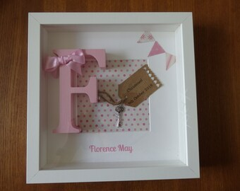 Personalised Christening Birth New Baby Frame Gift keepsake