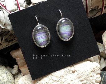Oval earrings, one of a kind