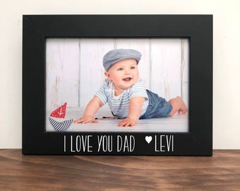 I love you dad Personalized Picture Frame, Gift for Dad, Father's Day Gift, Dad Gift, Gift for Dads