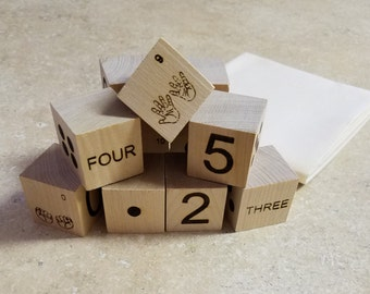Number Teaching Blocks (Fingers, Dots, Digits, Word)