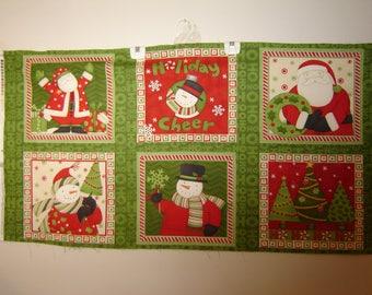 Fabric Debbie Mumm, Ho Ho Holiday, Southseaimports, OOP, Christmas Panel
