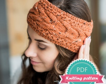 Crochet pattern crochet ear warmer pattern crochet headband ear warmer pattern headband pdf pattern cable knit headband knitting patterns for women knitting pattern easy pattern headband pdf dt1010fo