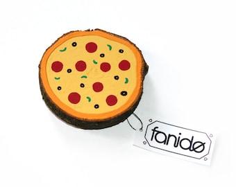 Magnetic wood slice Pizza salami Gift