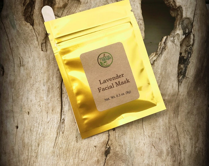 Calming Facial Mask  - Lavender Face Mask - Clay mask - Single use clay face mask - Herbal skin care - Herbal face mask - Relaxing mask