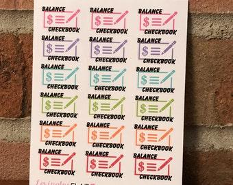balance checkbook etsy