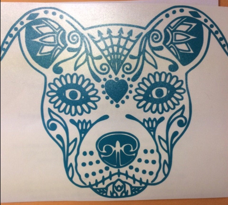 Pit Bull Decal Pit Bull Art Pit Bull Pit Bull Car Decal