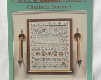 Sampler Cross Stitch Pattern Vintage Elizabeth Barnard, Chester Co. Pa. , Collectiion