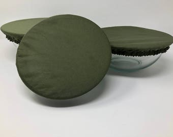 Reusable Bowl Covers, Forest Green