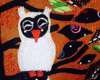 Sleeping Owl, 5x7, Blank Card, Children's Card, Get Well, Birthday, Kelly Burgess, Nova Scotia, Maritime Artist, Folk