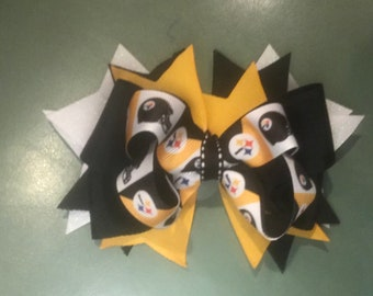 Pittsburgh Steelers Stacked Boutique Bow