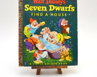 Walt Disney's Seven Dwarfs Find a House, Vintage Little Golden Book, 1952 Edition