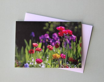Bright Ranunculus | Greeting Card | Note Card | Australian | Blank Card | Birthday | All Occasion