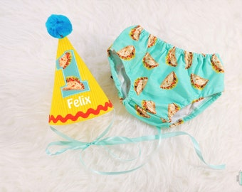 Taco First Birthday Smash Cake Outfit