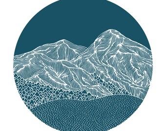 Turquoise Mountains Print