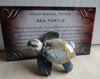 Hand Carved *SEA TURTLE* Animal Spirit Totem for Spiritual Jewelry or Crafts