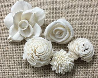 Bulk Bag of 40 mixed sola flowers - ALL MINI SIZE