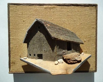 Barnwood Barn Wallhanging 3-D