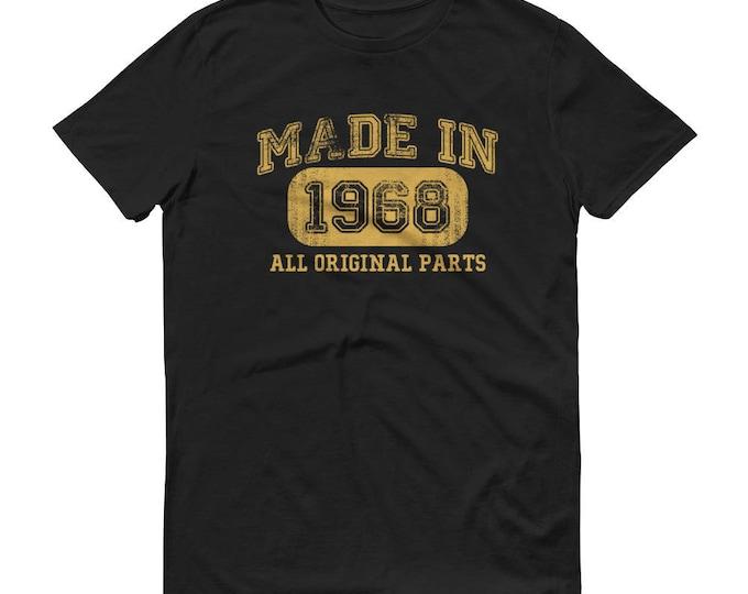 1968 Birthday Gift, Vintage Born in 1968 t-shirt for men, 50th Birthday shirt for him, Made in 1968 T-shirt, 50 Year Old Birthday Shirt