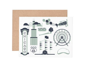 Chicago Letterpress Greeting Card - Blank Card | Greeting Cards |