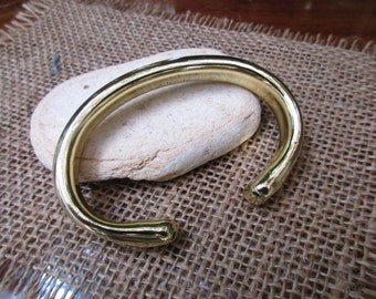 "Wide Bronze Cuff Bracelet. 6.5mm X 11mm Thick and wide. 36g for 6"" long. Hollow."