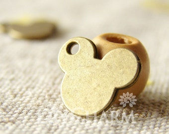 Lovely Mickey Mouse Head Charms 12x10mm,20 Pcs,DC26365