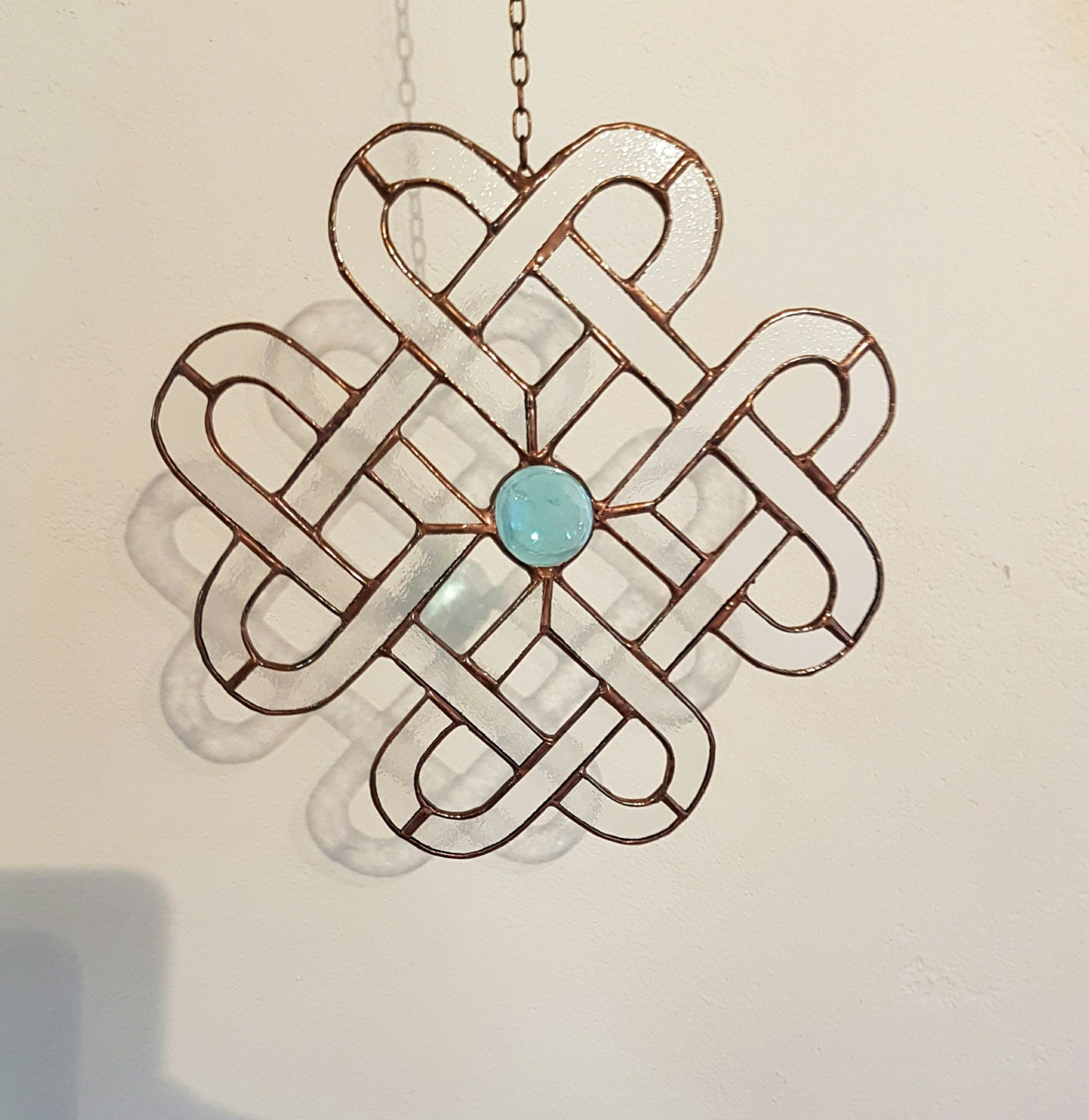 Tiffany stained glass suncatcher hearts celtic knotwork in zoom biocorpaavc Gallery