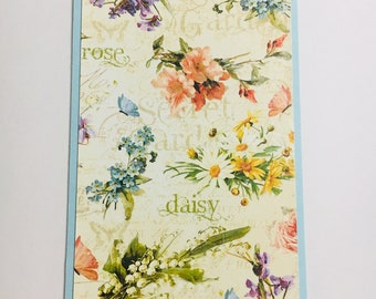 Floral Secret Garden Personal Planner Dashboard Perfect for Kikki K Medium, Filofax, Webster's Pages Color Crush or Recollections Planner