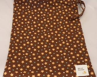 Large Wetbag- Brown Stars- 4003