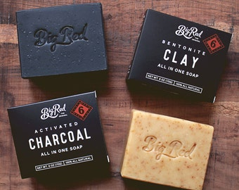 Big Red All-In-One Beard and Body Soap - Clay