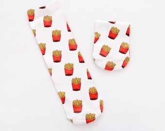 Potato chips socks.french fries socks.macca socks.