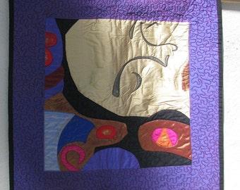 VIRGIN IN VIOLET - Art Quilt