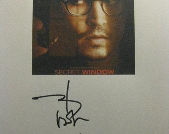 Secret Window Signed Film Movie Screenplay Script Autographs Signatures Johnny Depp John Turturro reprint