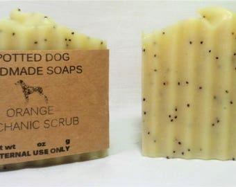Orange Essential Oil Mechanic Scrub Bar Soap