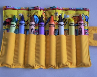 NEW ITEM--Jumbo Crayon roll, crayon tote for jumbo size crayons, crayon caddy, crayons not included, crayons, crayon carrier, travel tote